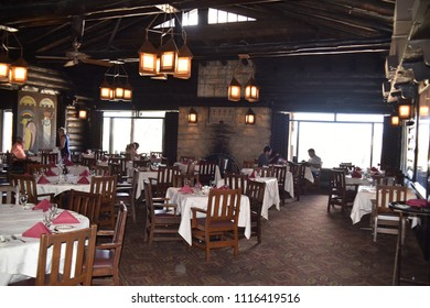 Grand Canyon, AZ., U.S.A. June 6, 2018. El Tovar Hotel-National Historic Landmark in 1987-is perched on the South Rim of the Grand Canyon.  Opened in 1905, El Tovar dining Master Chef prepared meals