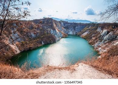 Grand Canyon Chonburi, Thailand, Landscape, Lake in the mountain, Landmark, Tourist is traveling