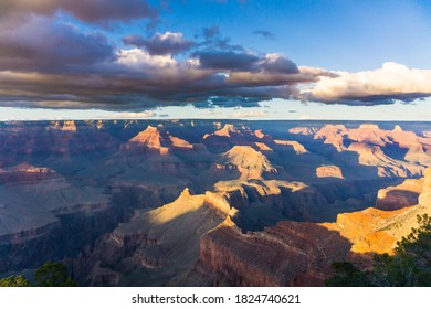 Grand Canyon Cloudy Panorama View