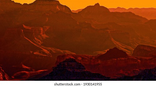 Grand Canyon In Early Morning Light