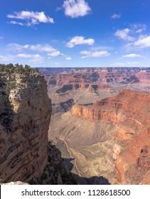 Grand Canyon landscape view details, walls, Arizona, USA