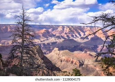 Grand Canyon landscape view at Grandview Point, South Rim, Arizona. USA