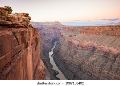 Grand Canyon at Morning Twilight from Toroweap Overlook with the view of Colorado river