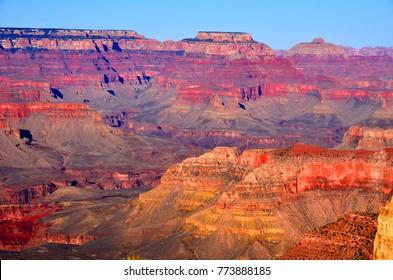 Grand Canyon National Park  and adjacent rim are contained within Grand Canyon National Park, the Kaibab National Forest, Grand Canyon-Parashant National Monument
