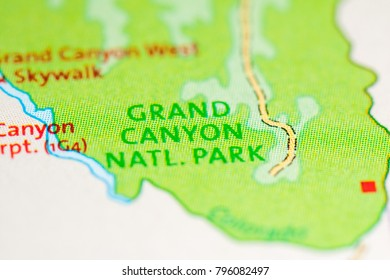 Map Grand Canyon Images Stock Photos Vectors Shutterstock - Grand-canyon-location-on-us-map