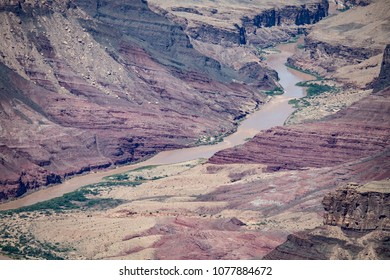 Grand Canyon National Park with colorado river arizona Usa. Picturesque beautiful landscape with great colors in the america. road trip vacation with a beautiful view to rest after touristic road trip
