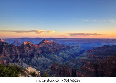 Grand Canyon National Park at sunset