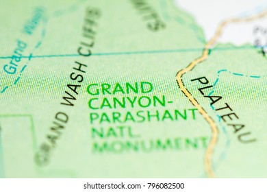Grand Canyon Map Images Stock Photos Vectors Shutterstock