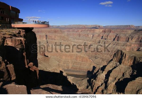 Grand Canyon Skywalk Bridge Arizona Usa Stock Photo Edit