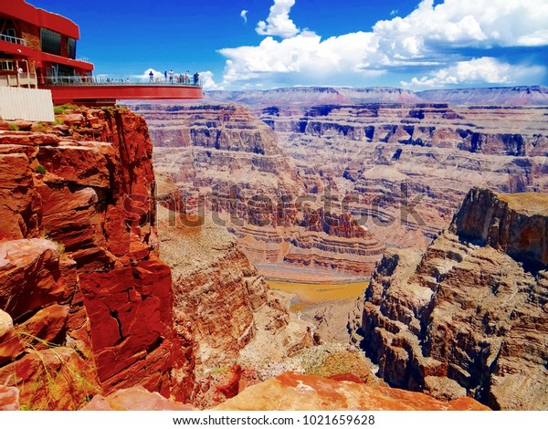 Grand Canyon Skywalk Hualapai Reservation Stock Photo Edit