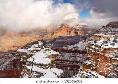 Grand Canyon South rim at winter