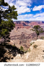 Grand canyon vertical panorama landscape view  with calorado river rapid, Arizona, USA