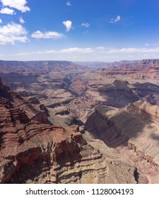 Grand canyon vertical panorama landscape at Lipan Point view