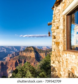 Grand Canyon view from the North Rim. Sunrise on a clear morning. Square format