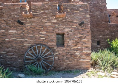 Grand Canyon Village, Arizona / USA - June 20 2017:  Hopi House, Grand Canyon Village, Arizona. The building  in the style of ancient buildings of the Indian tribe Hopi