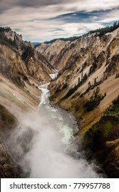 Grand Canyon of the Yellowstone, Yellowstone National Park, Wyoming.