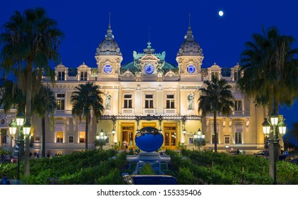 The grand casino in Monaco at night