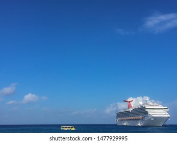 Grand Cayman, Cayman Islands / Caribbean - Nov 2015 With 2.1 million cruise ship visitors each year, Grand Cayman is a preferred destination for ocean-going tourists