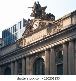 Grand Central Station building along 42nd Street, New York City.
