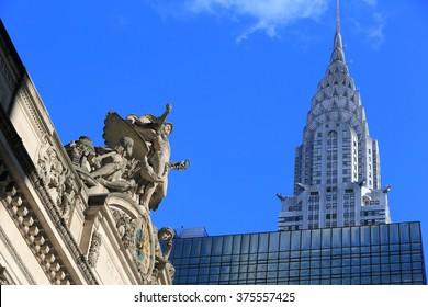 GRAND CENTRAL STATION, NEW YORK, NY USA- DEC 16: Grand Central Station and Chrysler, December 16, 2012