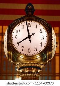 Grand Central Terminal Clock Closeup New York City USA