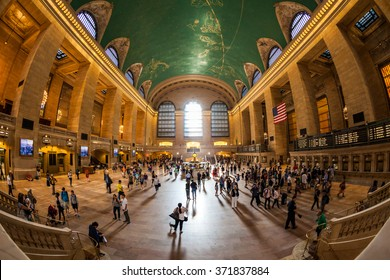 GRAND CENTRAL TERMINAL, NEW YORK - SEPTEMBER 19: Interior views of the Grand Central Terminal Building on September 19, 2015. Grand Central Terminal has intricate designs both on its in and outside.