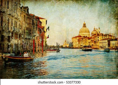 Grand channel -Venice - artwork in painting style