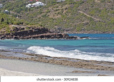 Grand Cul de Sac beach on St Barths (French West Indies)