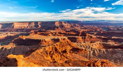 Grand Desert View during Sunset in Dead Horse State Park, Utah