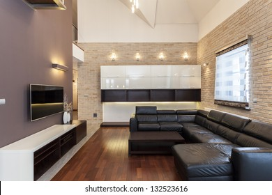 Grand design - Interior of a modern and minimalist house