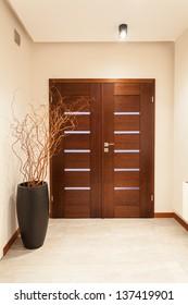 Grand design - wooden door, main entrance