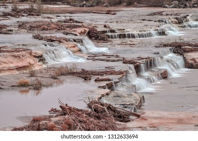 Grand Falls is a natural waterfall system located 30 miles northeast of Flagstaff, Arizona in the Painted Desert on the Navajo Nation. 