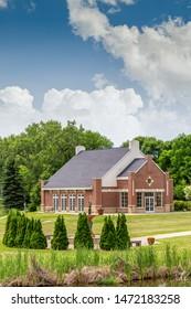 GRAND FORKS, ND/USA - JUNE 28, 2019:  Hopper-Danley Spiritual Center on the campus of the University of North Dakota