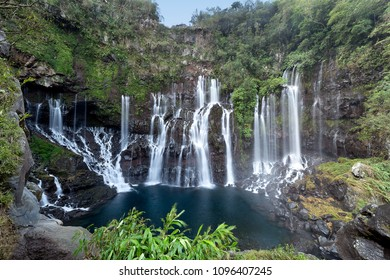 Grand Galet falls in Reunion Island