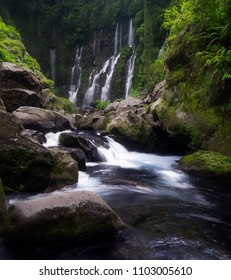 The Grand Galet Falls is situated in Saint-Joseph on Reunion Island
