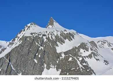 The Grand Golliat in Italy as seen from the Grand St Bernard Pass on the border with Switzerland
