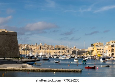 The Grand Harbour on Malta lets to see the luxury yachts and traditional fishing boats entering the three old knight's towns - Senglea, Vittoriosa and Cospicua and the capital city of Valletta