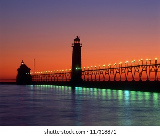 Grand Haven Lighthouse  Great Lakes Michigan