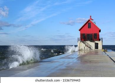 Grand Haven, Michigan USA - Lighthouse