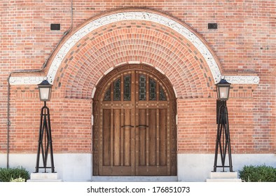 Grand Home Entrance with ornate wooden door