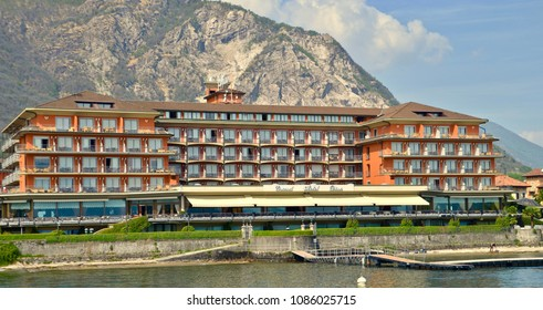 Grand Hotel Dino on Lake Maggiore, 4 star hotel in Baveno Italy, Europe. MAY 2018