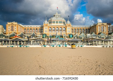 Grand Hotel Kurhaus at the Pier in Scheveningen, beach resort at Den Haag (Netherlands)
