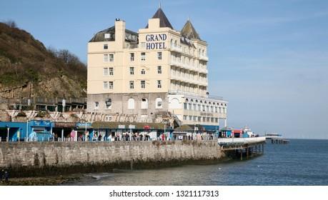 The Grand Hotel on Llandudno Pier, Llandudno, North Wales, Europe on Thursday, 21st, February, 2019