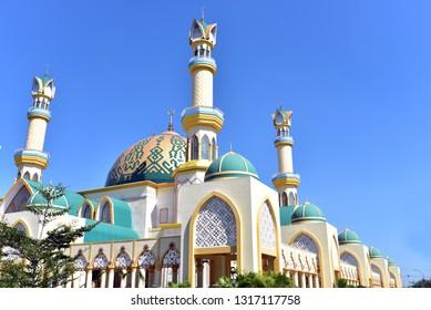 Grand Islamic Center Mosque in Mataram, Lombok Island, Indonesia
