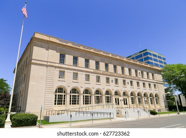 GRAND JUNCTION, USA - MAY 28, 2016: Federal building and United States court house in Grand Junction.
