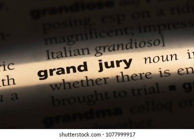 grand jury word in a dictionary. grand jury concept