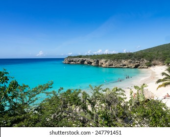 Grand Knip Beach Curacao   in the Dutch Antilles a Caribbean Island