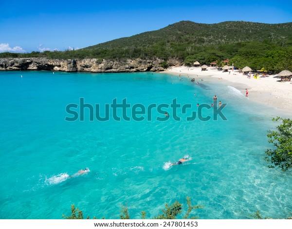 Grand Knip Beach Curacao   in the Dutch Antilles a Caribbean Island