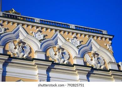 Grand Kremlin Palace of Moscow Kremlin. Popular touristic landmark. Color photo