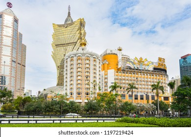 Grand Lisboa is one of the most famous hotel and casino in Macau. Macau, January 2018
